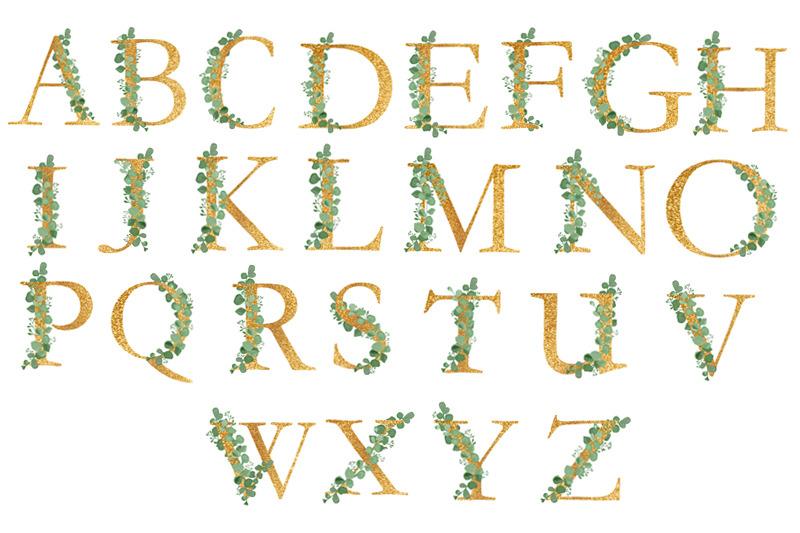 alphabet-clipart-wedding-eucalyptus-birthday-greetings