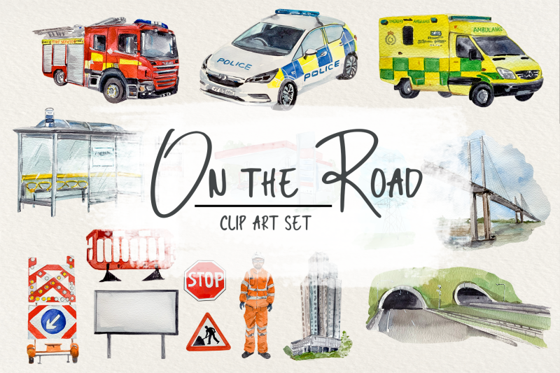 on-the-road-clip-arts-stickers-and-poster