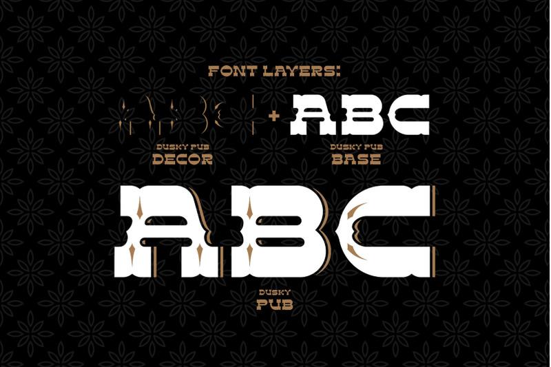 dusky-pub-font-mockup-label