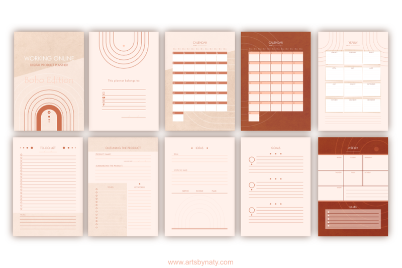 working-online-digital-product-planner-boho-edition