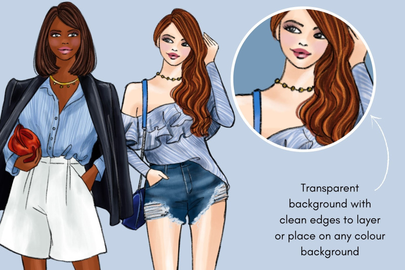 girls-in-blue-3-fashion-clipart-set