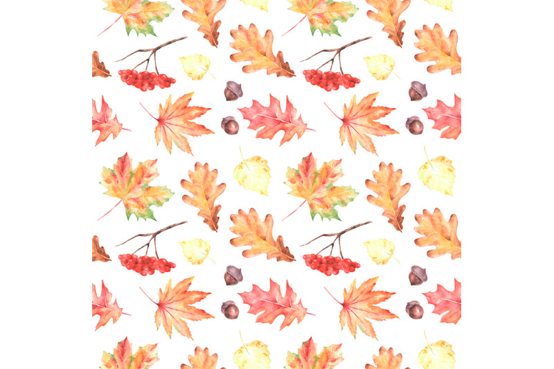 autumn-leaves-watercolor-seamless-pattern-fall-thanksgiving
