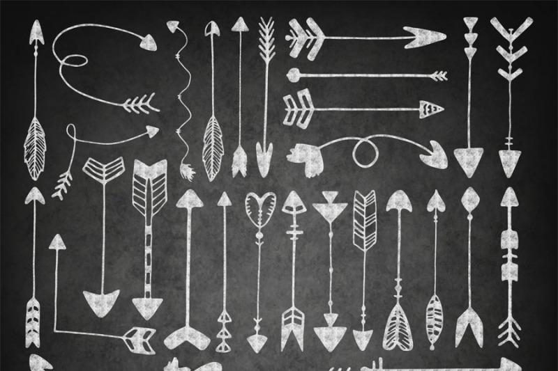 chalkboard-arrows-clip-art-chalk-tribal-clipart