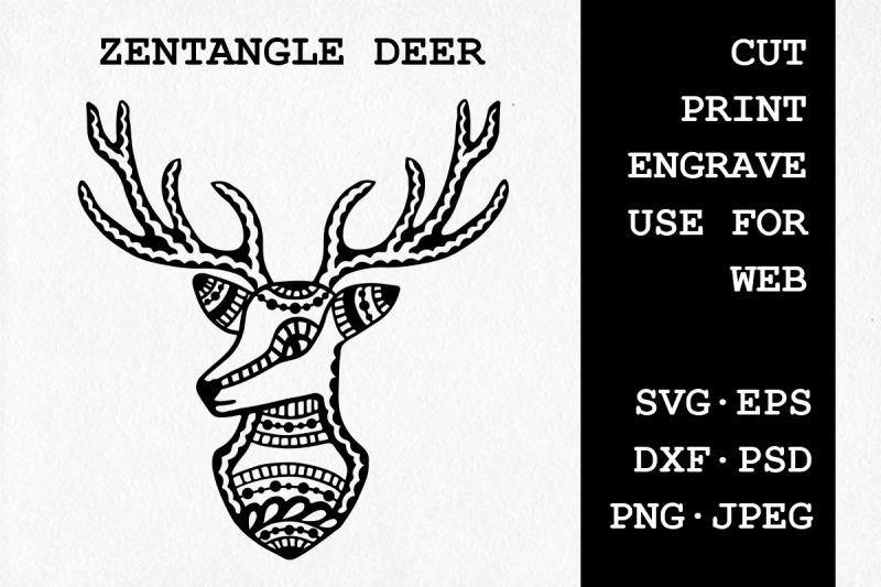 zentangle-deer-svg-dxf-eps-psd-png-jpeg