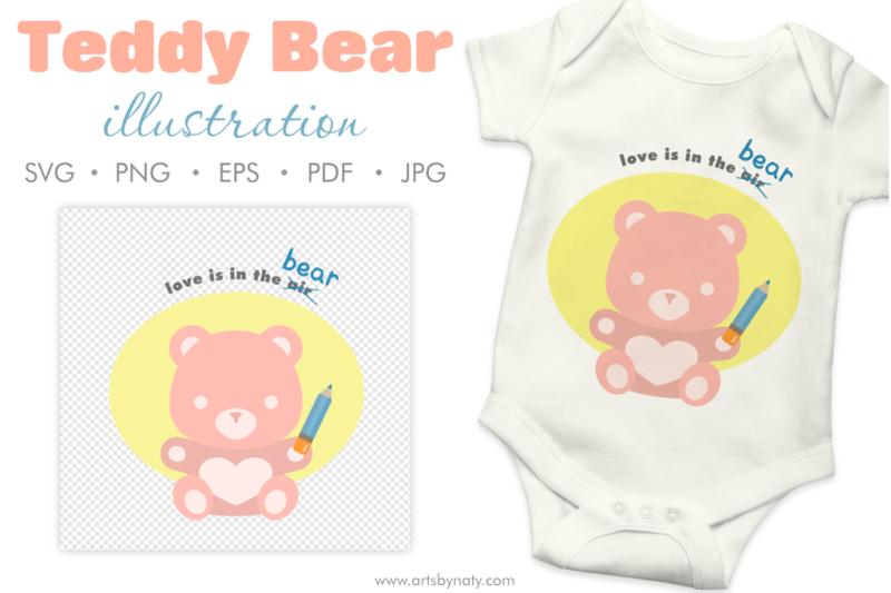teddy-bear-cute-love-quote-svg-clipart