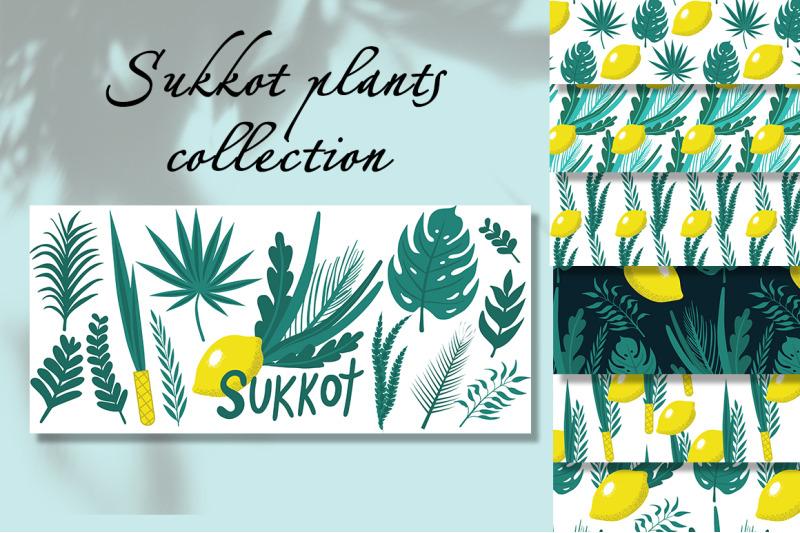 happy-sukkot-plants-set