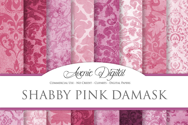 shabby-chic-pink-damask-textures