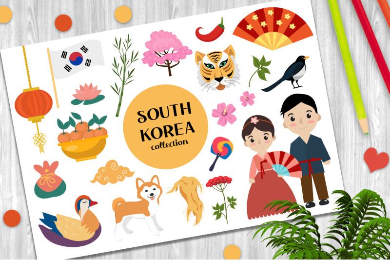 south-korea-set-vector-clip-art-png
