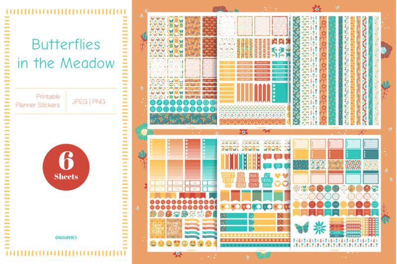 butterflies-in-the-meadow-planner-stickers