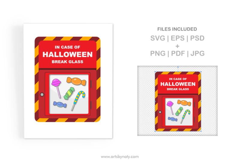 in-case-of-halloween-break-glass-svg-illustration