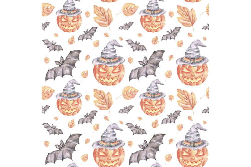 halloween-party-watercolor-seamless-pattern-halloween-pattern