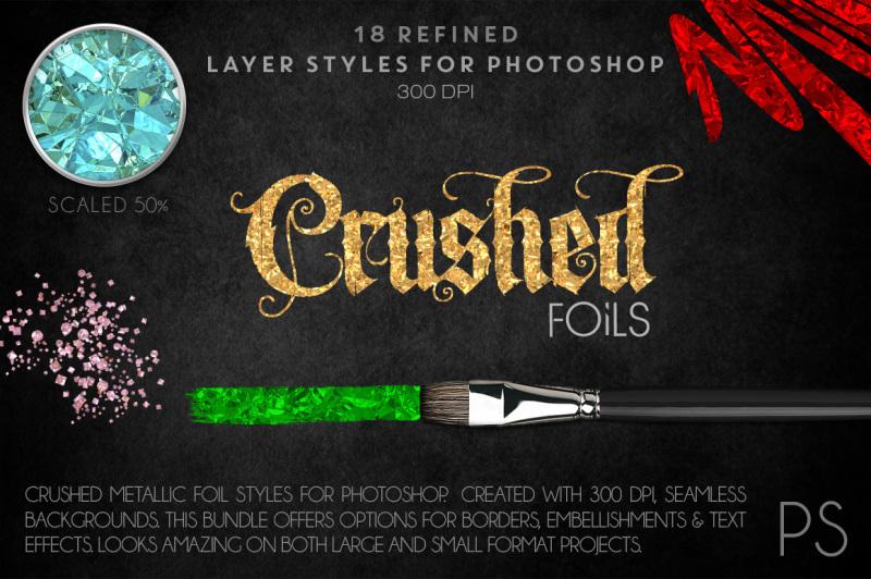crushed-metallic-foils