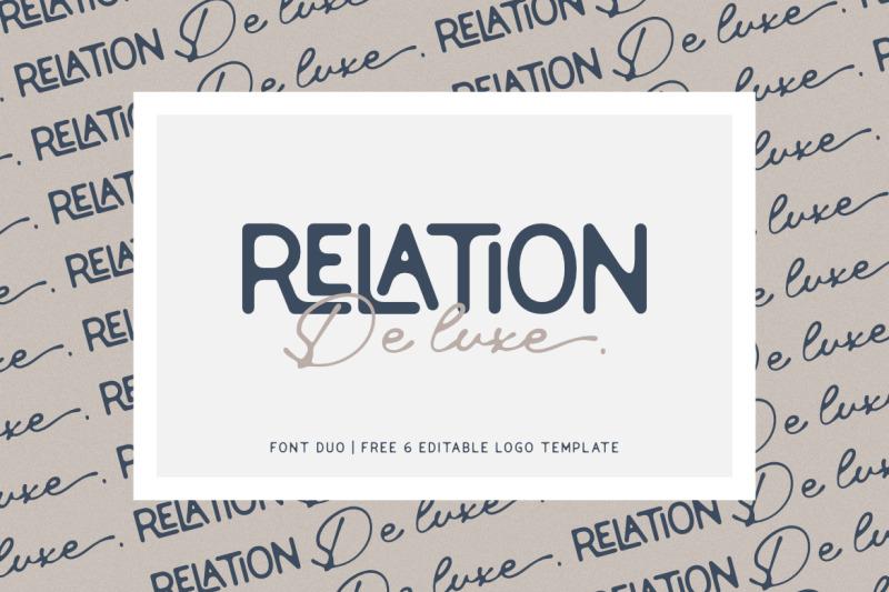 relation-de-luxe-font-duo