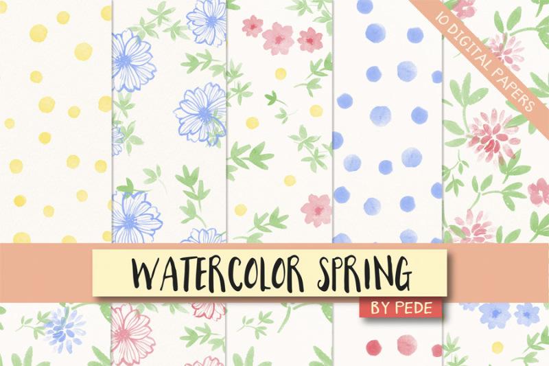 watercolor-floral-digital-paper-spring-digital-paper