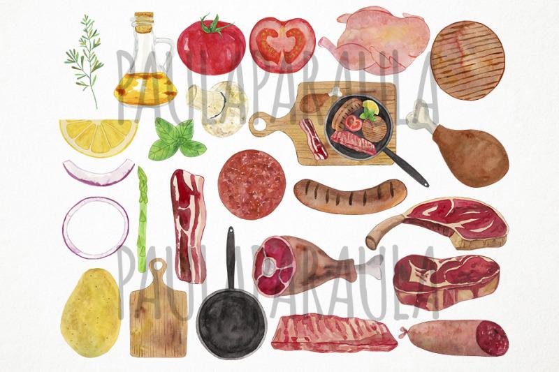 watercolor-meat-clipart-butcher-shop-clipart-beef-clipart-steak