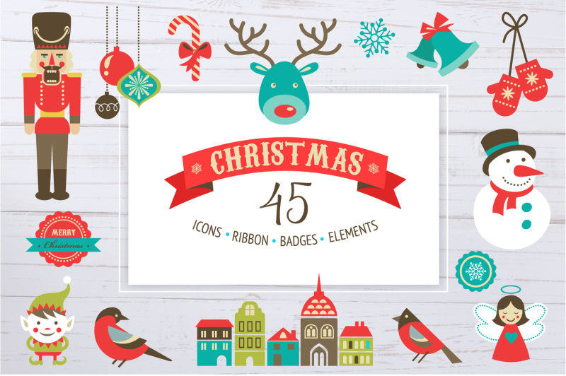 christmas-set-of-cute-icons-ribbons