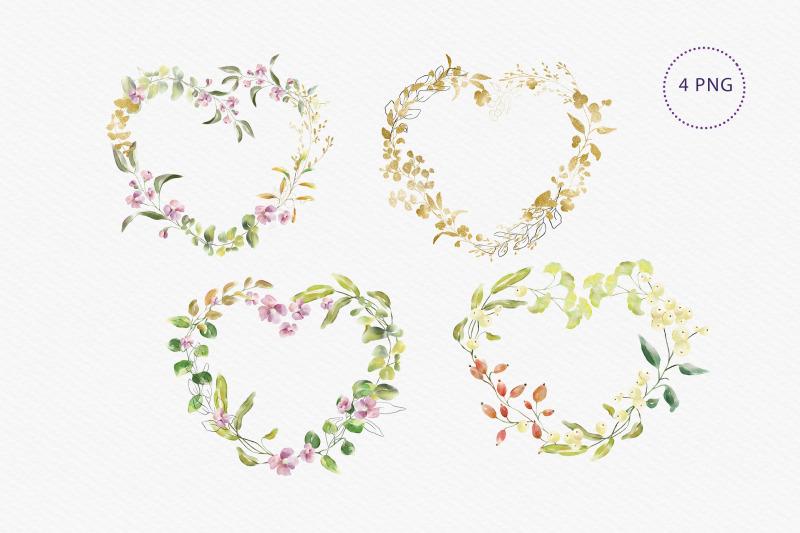 watercolour-heart-shaped-wreaths-clip-art-4-png
