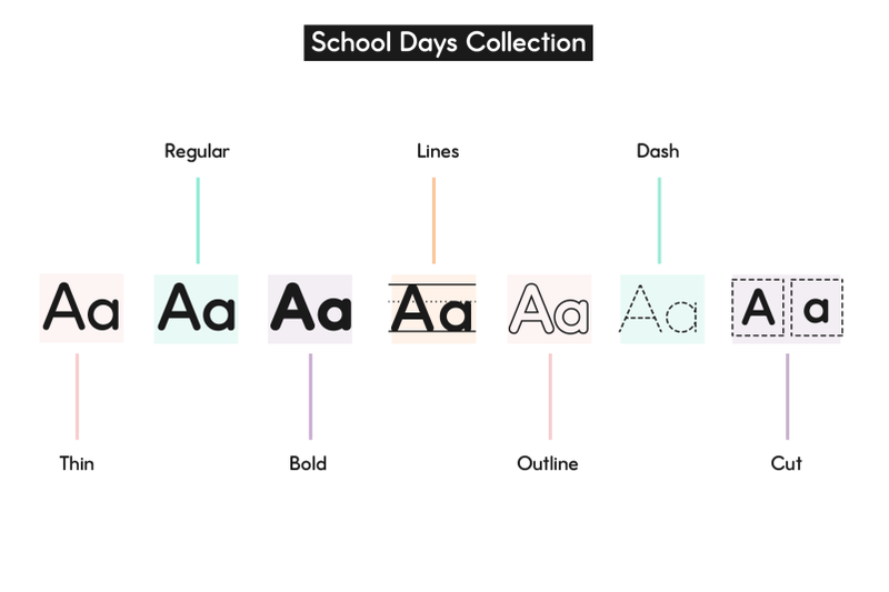 school-fonts-bundle-easy-to-read-and-trace-fonts