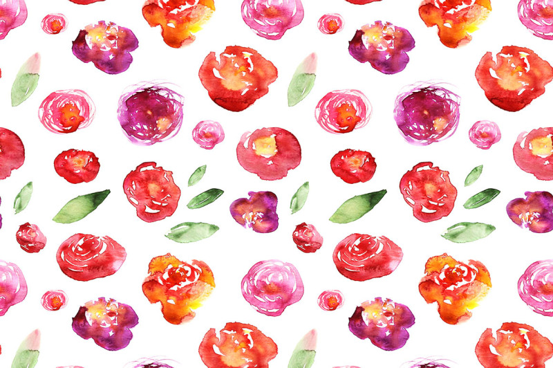 hand-drawn-watercolored-floral-patterns