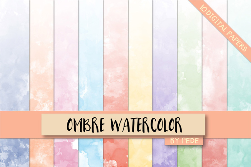 ombre-watercolor-digital-paper-pack