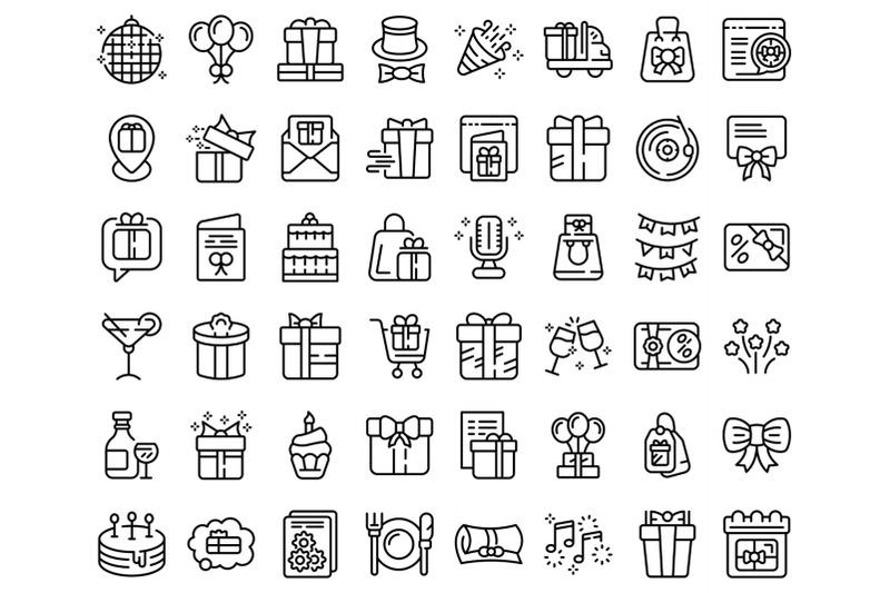 birthday-gift-icons-set-outline-vector-box-present