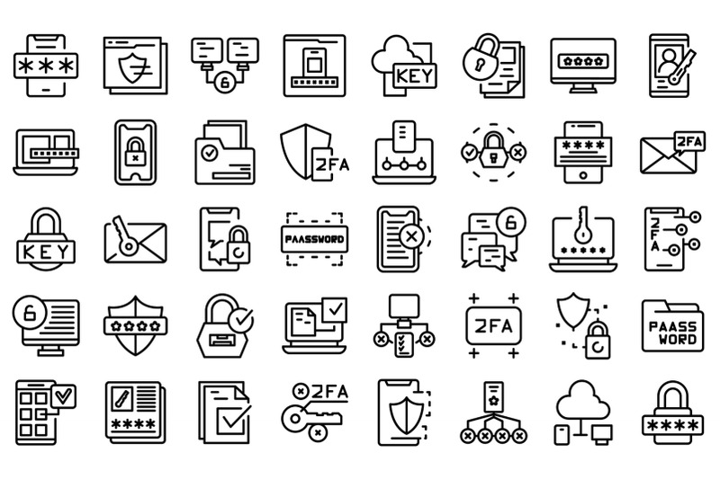 two-factor-authentication-icons-set-outline-vector-code-certificate
