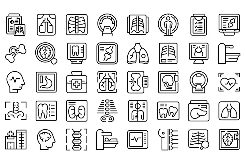 x-ray-examination-icons-set-outline-vector-hospital-room
