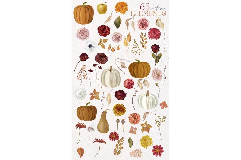 fall-garden-autumn-watercolor-set