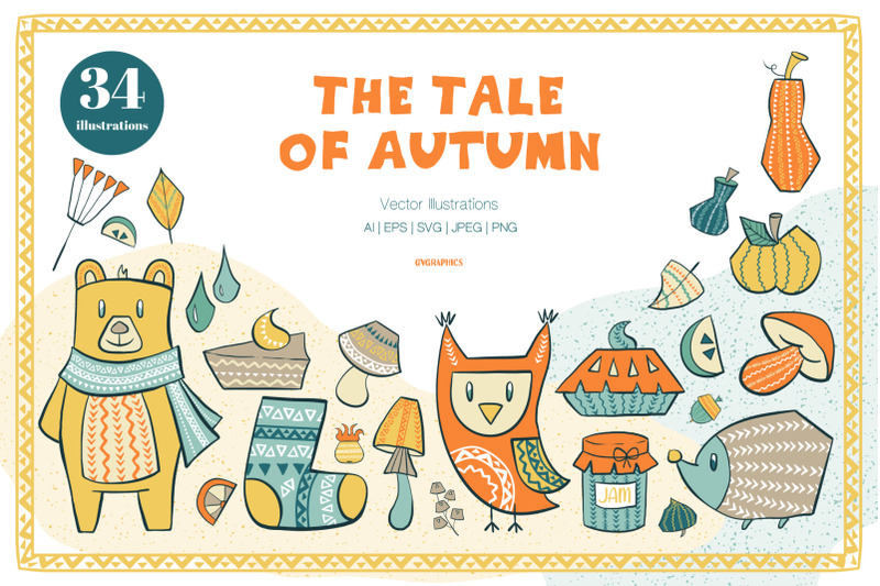 the-tale-of-autumn-vector-illustrations