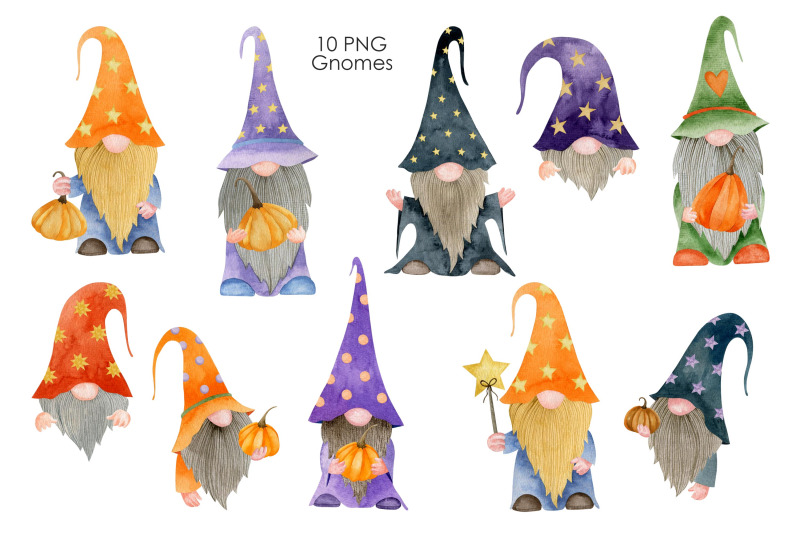 watercolor-halloween-gnomes-clipart