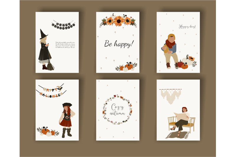 autumn-collection-cozy-clapart-abstract-women-children-in-vector