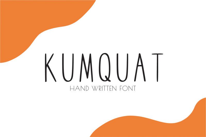 kumquat-hand-written-font