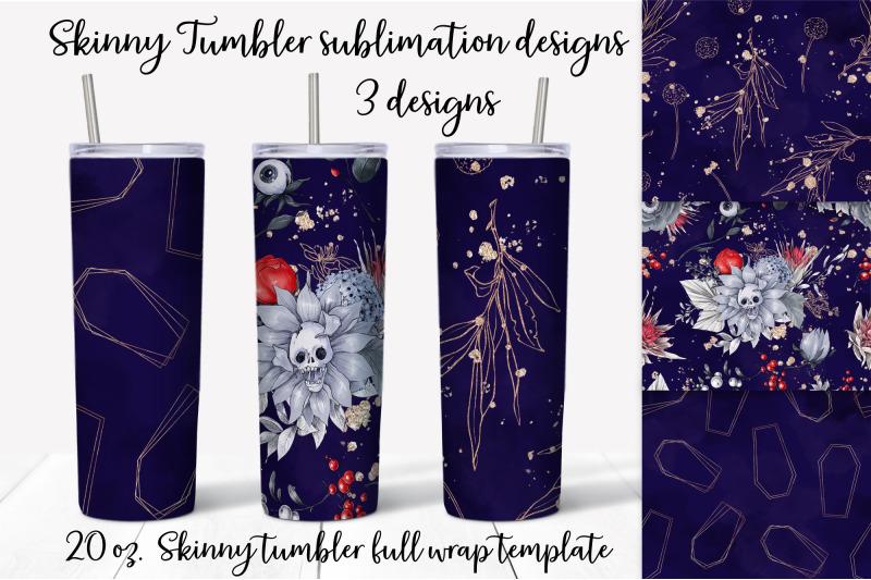 halloween-sublimation-design-skinny-tumbler-wrap-design