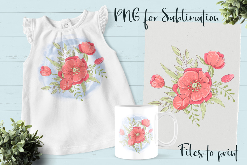 red-flowers-sublimation-design-for-printing