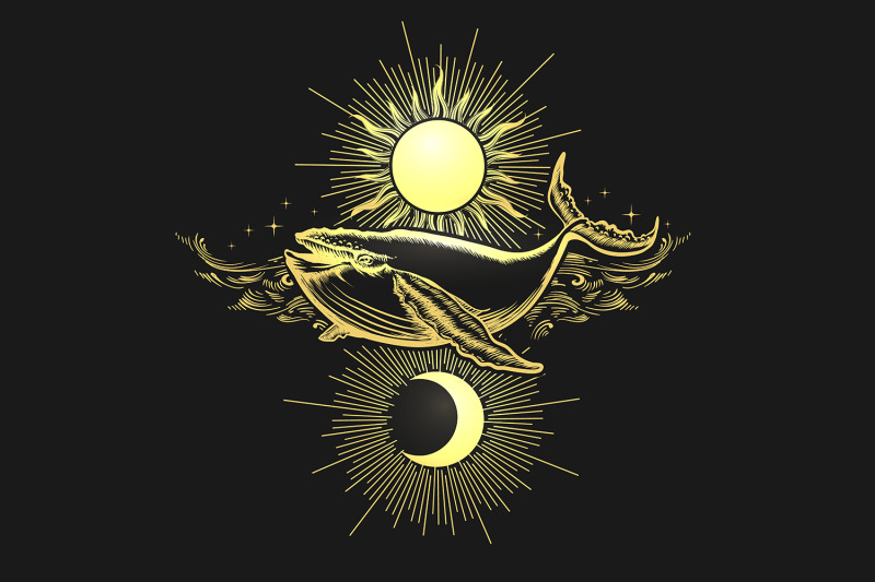 hand-drawn-sun-and-moon-and-whale-on-black-background