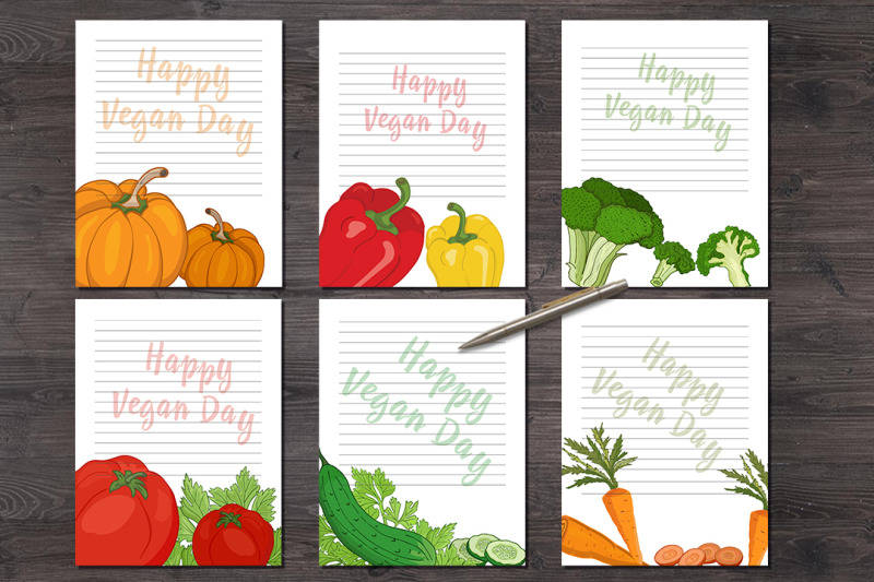 quot-happy-vegan-day-quot-note-sheets