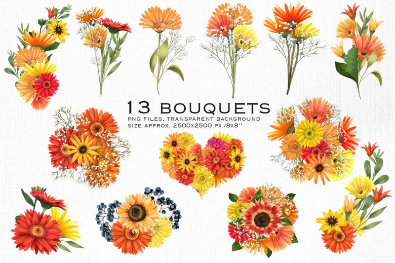 warm-flowers-bouquets-clipart-part-1