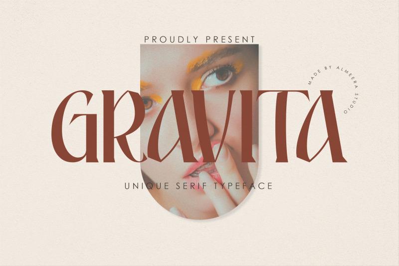 gravita-unique-serif-typeface
