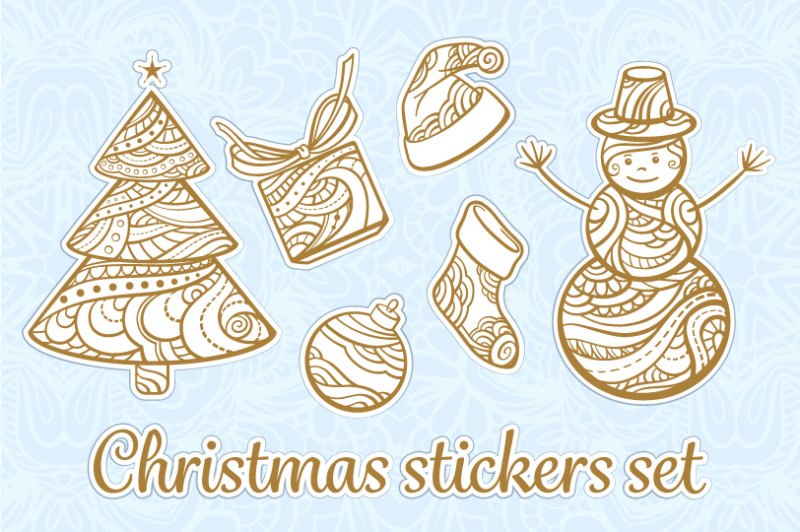 christmas-stickers-set