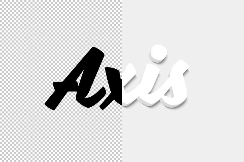 axis-3d-text-effect-psd