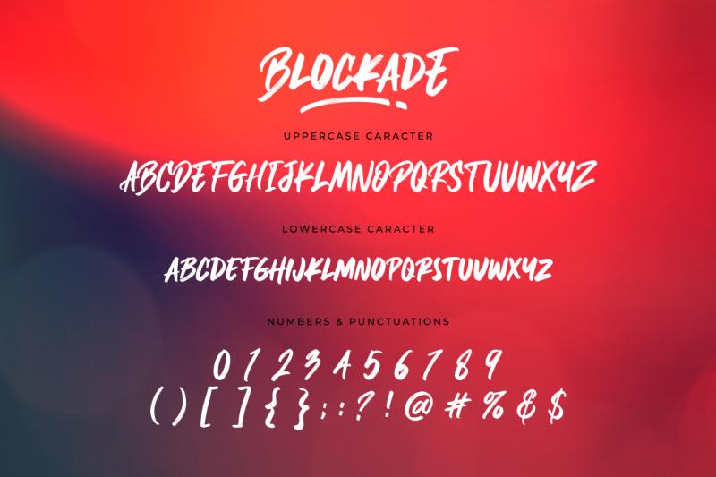 blockade-brush-font