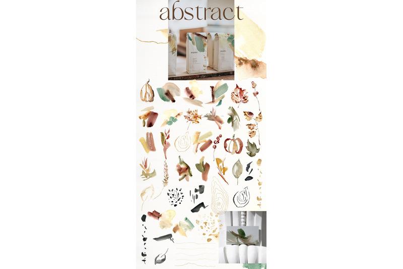 bright-autumn-watercolor-fall-flowers-birds-pumpkins-abstract-textures