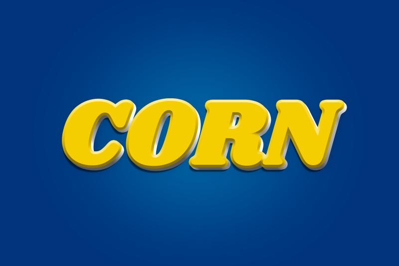 corn-3d-text-effect-psd