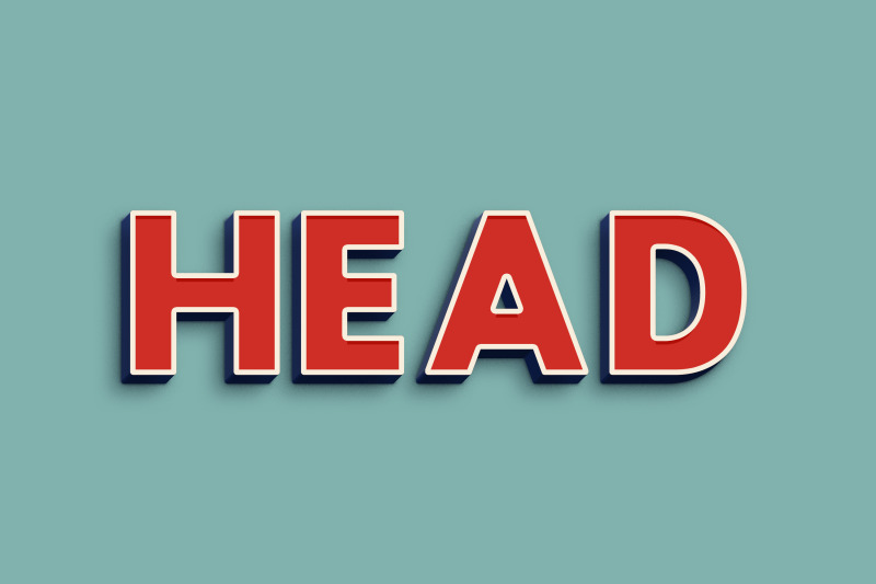 head-3d-text-effect-psd