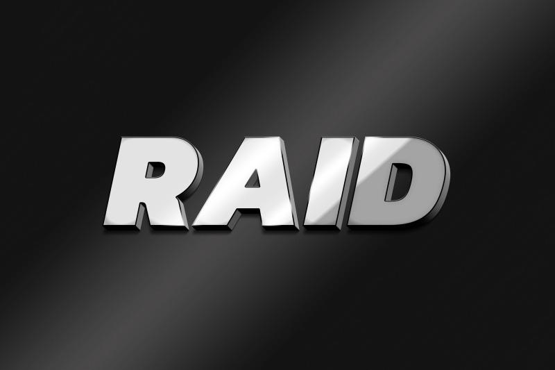 raid-3d-text-effect-psd