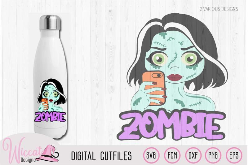 zombie-selfie-girl-cartoon-for-halloween