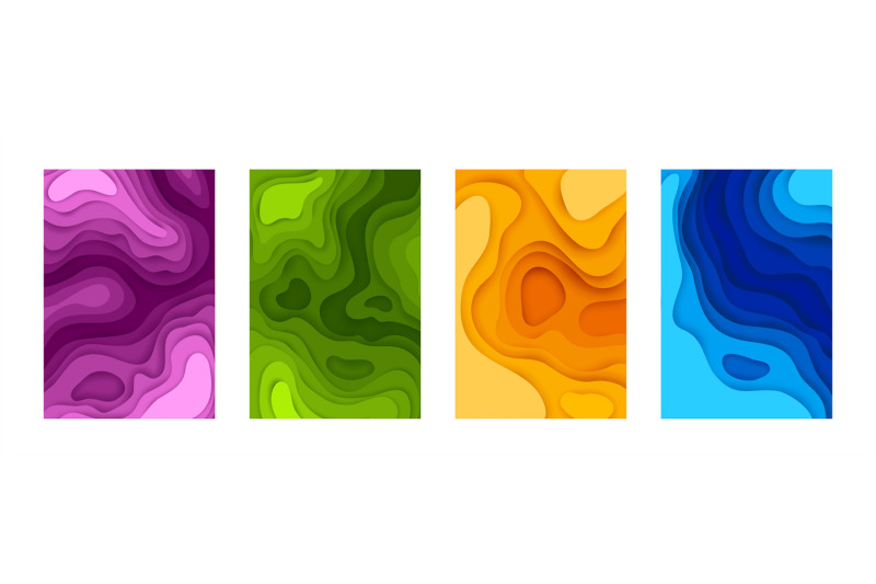 paper-cut-posters-3d-mockup-with-colorful-shapes-collection-minimal