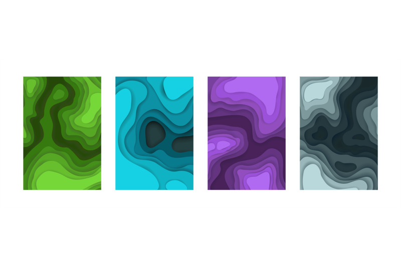 abstract-paper-cut-backgrounds-3d-layout-cardboard-shapes-color-grad