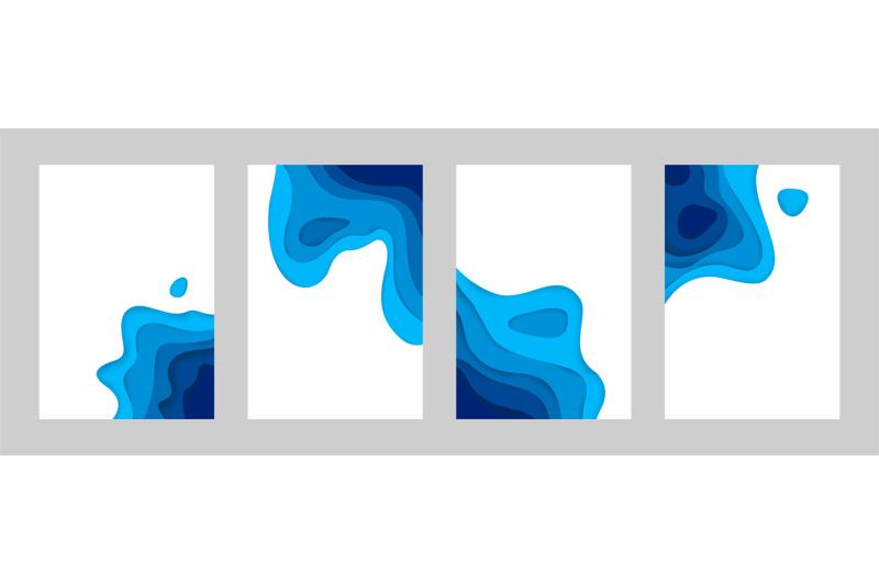 paper-cut-sea-posters-3d-ocean-banners-with-papercut-minimal-gradient