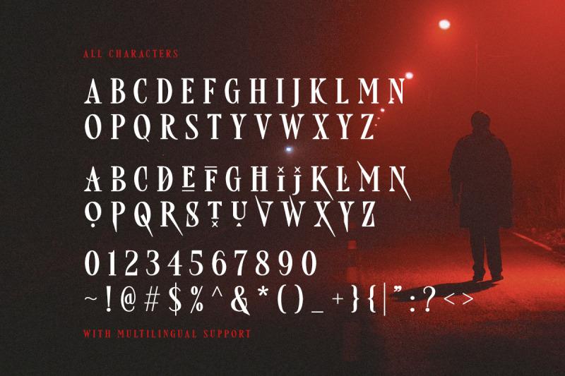 freaky-story-creepy-font